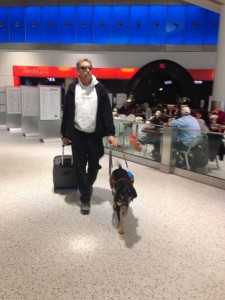 Randy and Autumn trek through the airport on their way to their first plane trip together!