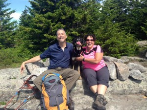 Randy, Tracy, and Autumn on a mountainside, one big happy family!