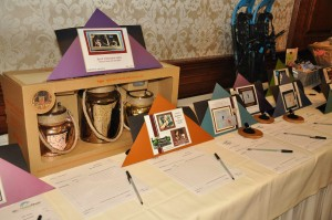 The array of silent auction items.