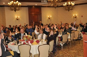 Lively participation in our live auction.