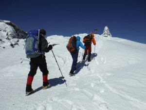 Winter guiding with Randy's group