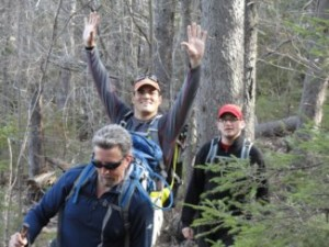 Tedy Bruschi hiking with Randy in May 2011