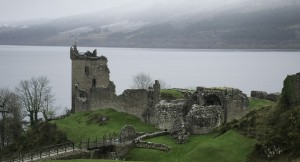 A picturesque castle in Loch Ness, Scotland.