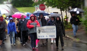 Walkers braved the rain in 2012 to support Randy's 100 mile walk in honor of NHAB's 100 year anniversary