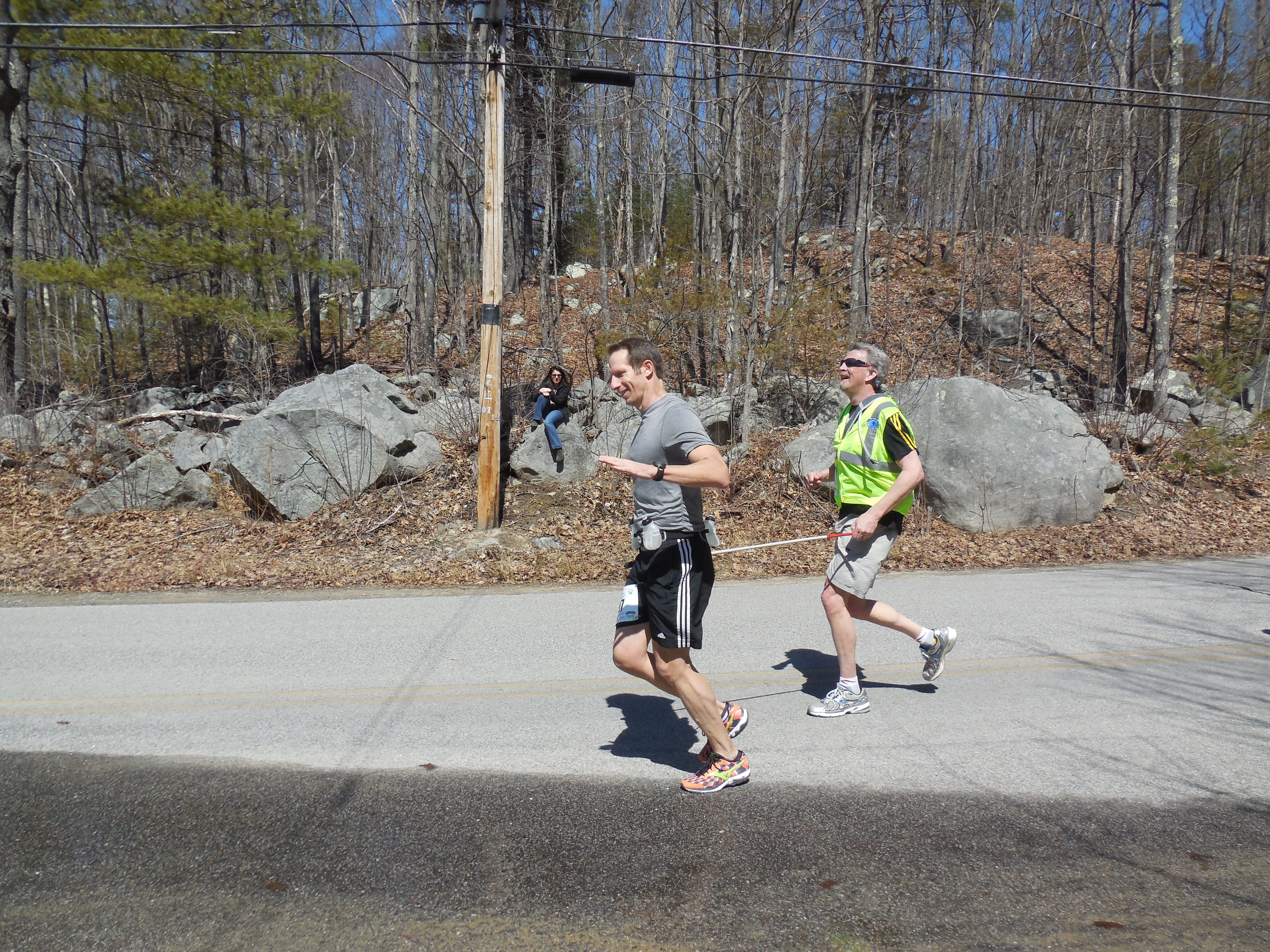 Rob and Randy running at the Great Bay Half