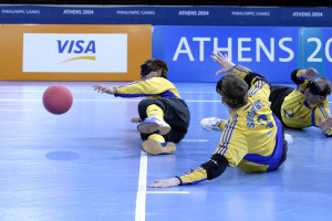 Goalball players