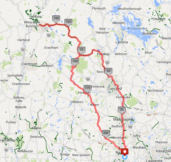 Our route on June 27.