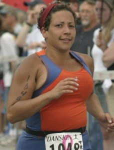 Tracy Pierce looking fierce in her triathalon goals and always inspiring her husband Randy!