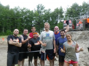 Randy poses with his team at the Tuff Mudder.