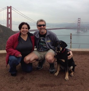 Randy, Tracy, and Autumn wish you a happy year ahead from the Golden Gate Bridge.