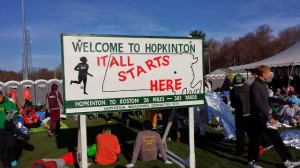 Hopkinton Welcome Sign