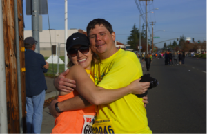 Vaungaylyn and Dave after completing their half of the California International Marathon
