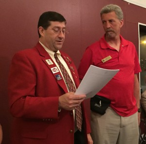 Randy installed as President of the Hudson, NH chapter of the Lions.