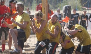 Randy and team go through electric shocks in the Tough Mudder they did in March 2015.