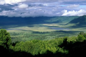 Gorgeous view of the Ngorongoro crater. (Photo from www.climbkili.com.)