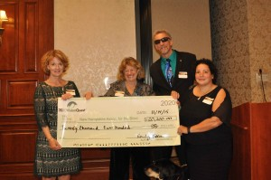 NH Association for the Blind receives a check from 2020 Vision Quest.