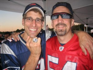 Randy and Rob at a Pats game.