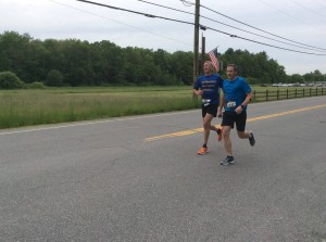 Rodney and Randy running the Hollis Fast 5k 2017.