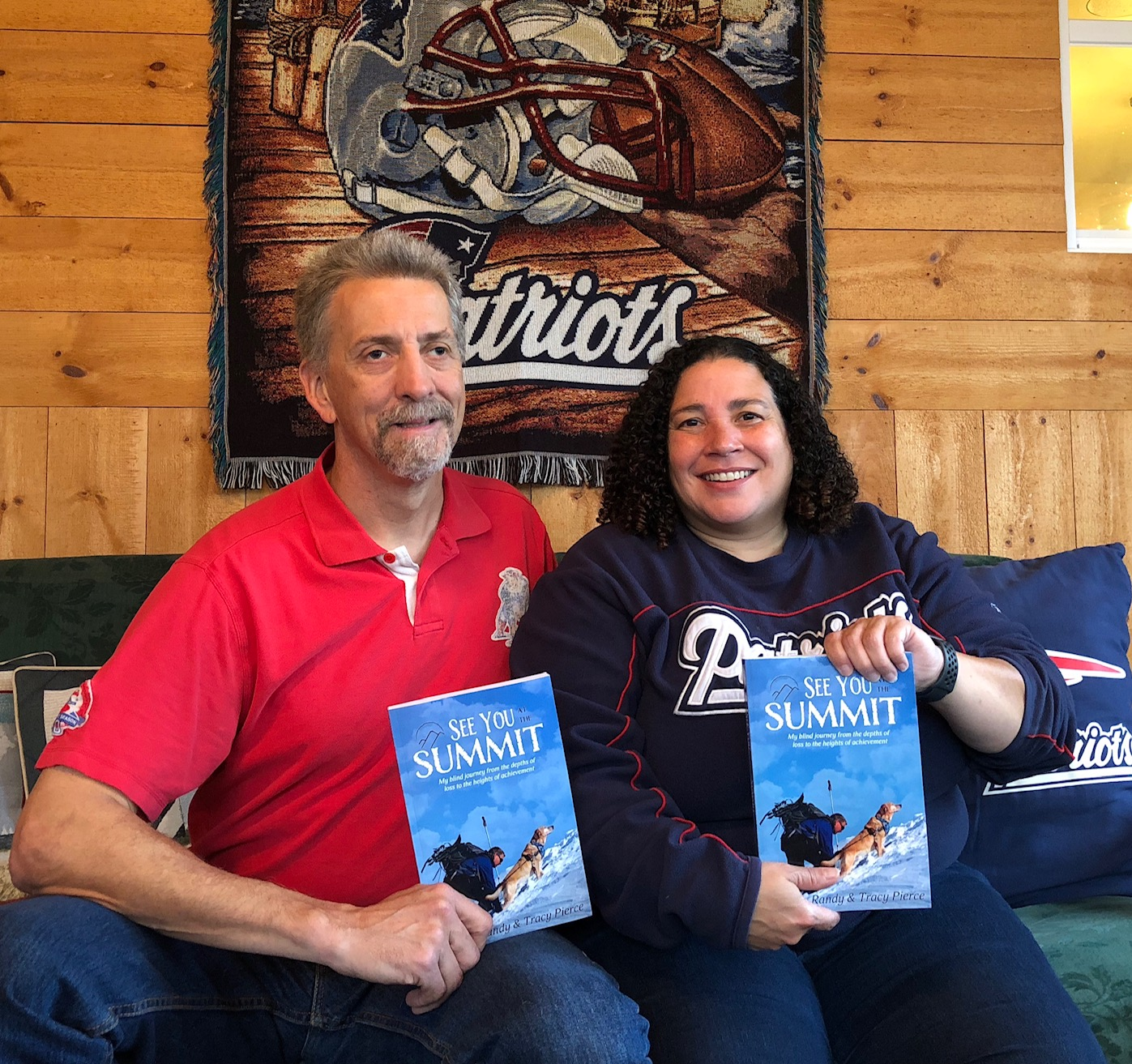 "Randy and Tracy pose with copies of ""See You At The Summit"""