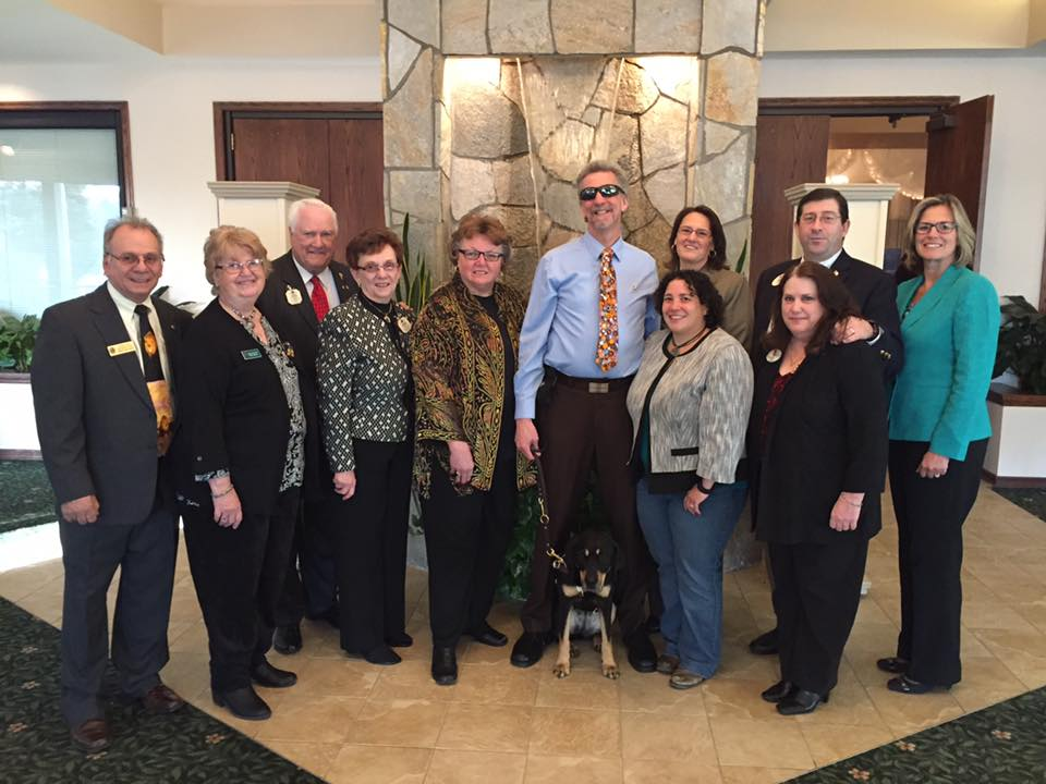 Randy and Autumn pose with other Hudson NH Lions at a special event in 2016.