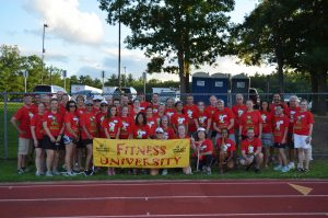 A group shot of Fitness University volunteers
