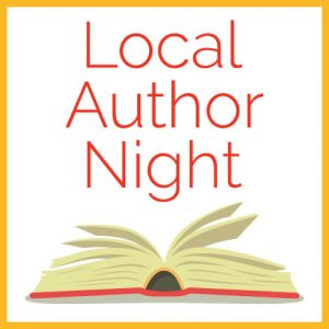 "The words ""Local Author Night"" with an image of a book underneath"